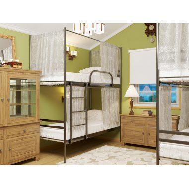 Металеве ліжко двоярусне Duo Шторки МЕТАКАМ