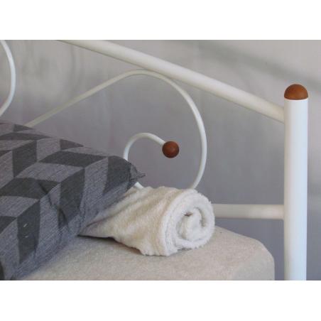 Металлическая кровать Milana 2 Метакам белая