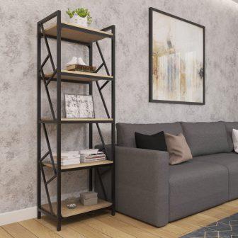 Стелаж 5 полиць Ромбо Металл-Дизайн Loft