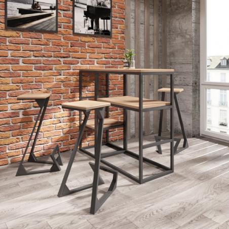 Барная стойка Макси Модуль Черная Металл-Дизайн Loft