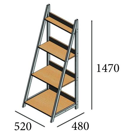 Габарити стеллажа Дуо Металл-Дизайн Loft