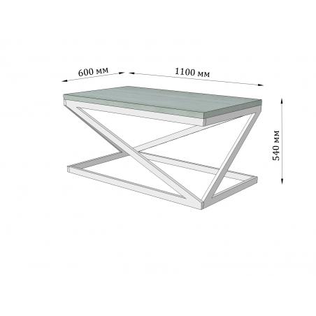 Гбарити стола журнального Бент Лонг Металл-Дизайн Loft
