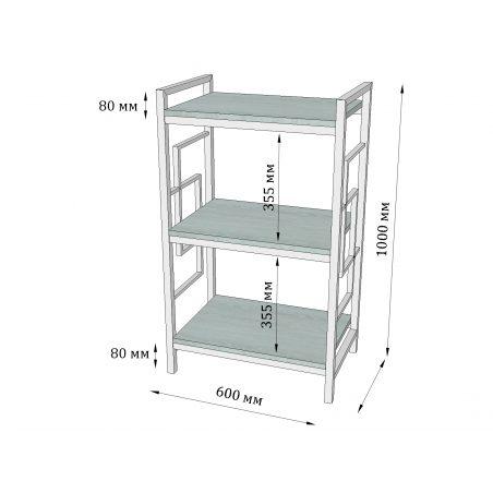 Стелаж 3 полки Квадро Метал-Дизайн Loft