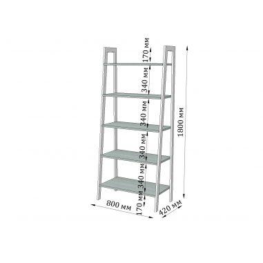 Габариты стеллажа 5 полок Призма Металл-Дизайн Loft