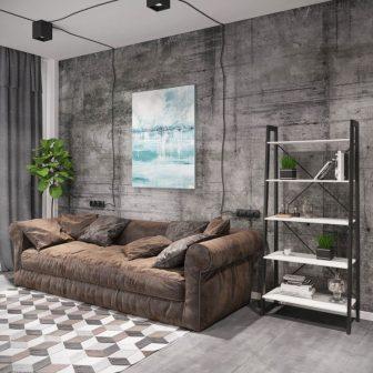 Стеллаж 5 полок Призма Металл-Дизайн Loft