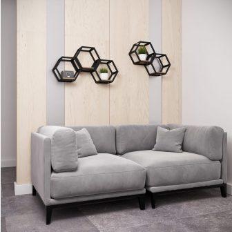Полиця підвісна Хеві Металл-Дизайн Loft