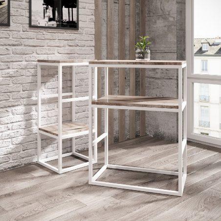 Барная стойка Мини Модуль Белая Металл-Дизайн Loft