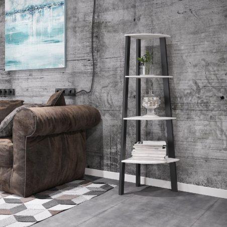 Кутовий стелаж 4 полиці Призма Металл-Дизайн Loft