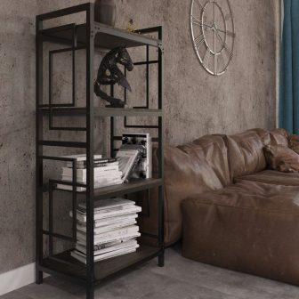 Стелаж 4 полиці Квадро Металл-Дизайн Loft
