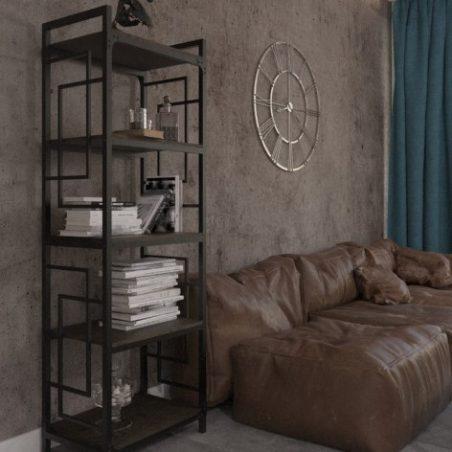Стеллаж 5 полок Квадро Металл-Дизайн Loft