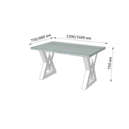 Стіл кухонний Астон Металл-Дизайн Loft