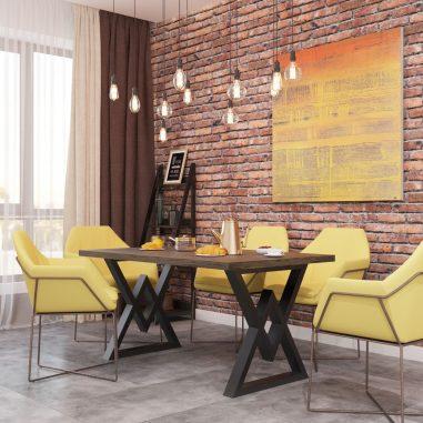 Стол кухонный Астон Металл-Дизайн Loft