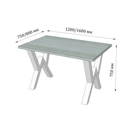 Стіл кухонний Віннер Металл-Дизайн Loft