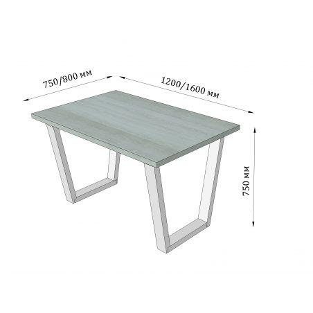 Габариты стола Бинго