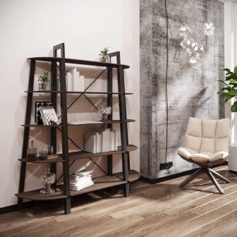 Комплект стелажів на 5 полиць Призма Металл-Дизайн Loft