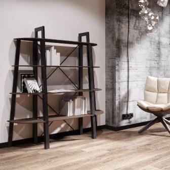 Комплект стелажів на 4 полки Призма Металл-Дизайн Loft