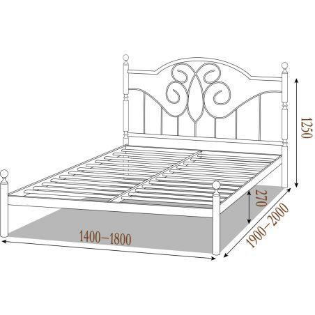 Металеве ліжко Офелія Металл-Дизайн