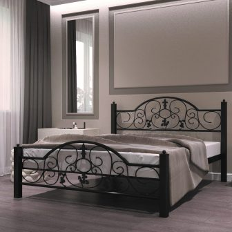 Металлическая кровать...
