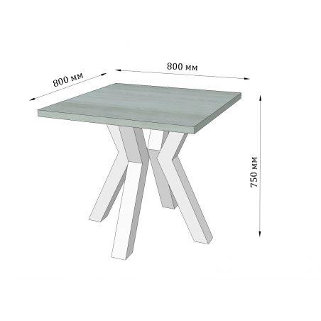 Габарити Стіл обідній Свен 4 ноги Металл-Дизайн Loftи