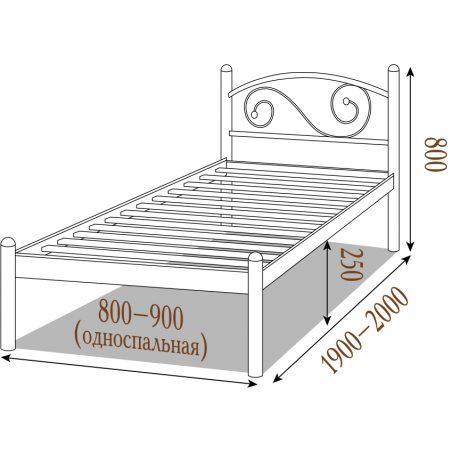 Металеве ліжко Вероніка Металл-Дизайн