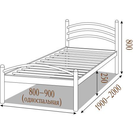 Металеве ліжко Маргарита Металл-Дизайн габарити