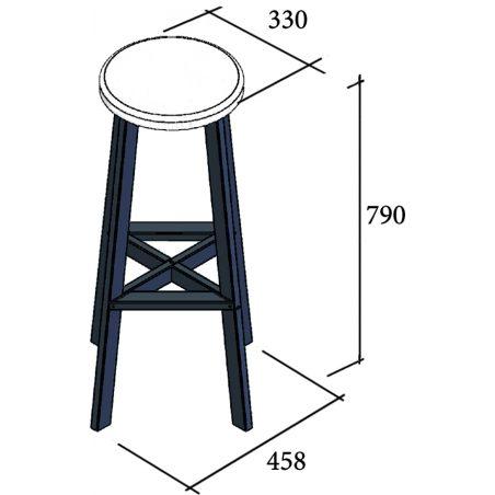 Габарити Стілець барний Флай Металл-Дизайн Loft