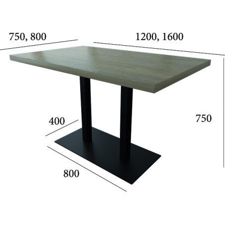 Габариты Стол HoReCa Тренд 1 двойной Металл-Дизайн Loft