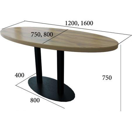 Стіл HoReCa Тренд 2 подвійний Металл-Дизайн Loft розміри