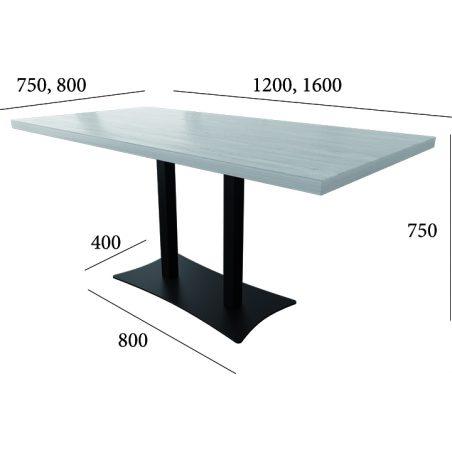 Стіл HoReCa Тренд 3 подвійний Металл-Дизайн Loft розміри