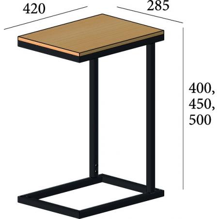Габариты комплекта журнального Кофе Брейк XL Металл-Дизайн Loft