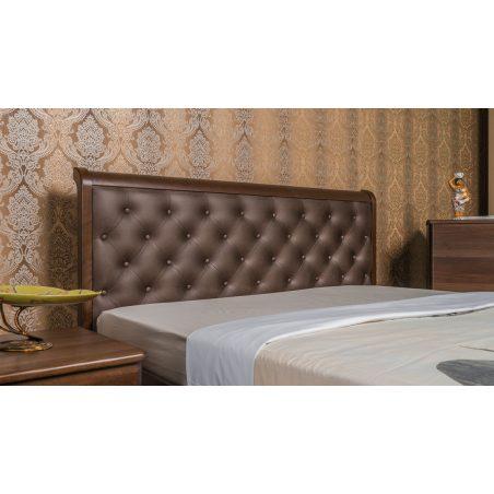 Кровать Милена Premium Олимп изголовье эко-кожа