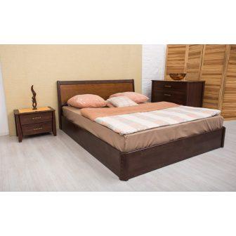 Сити (City) кровать с интарсией и подъемной рамой Олимп