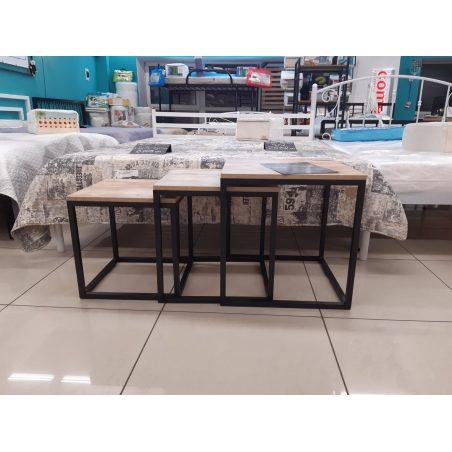 Комплект журнальних столів Кубо Металл-Дизайн Loft