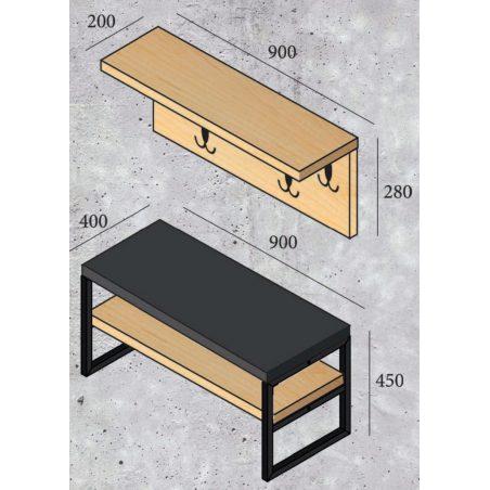 Толедо (Toledo) вешалка Металл-Дизайн габариты